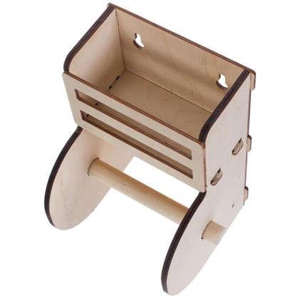 Держатель для туалетной бумаги без крышки с полочкой
