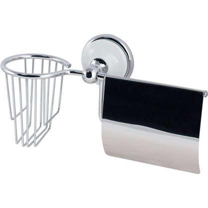 Купить Держатель для туалетной бумаги и освежителя воздуха Aster с крышкой цвет хром дешевле