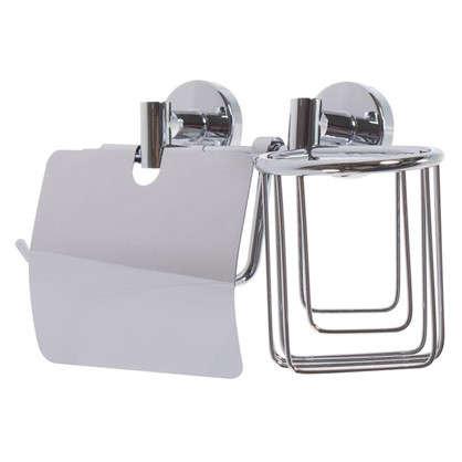 Купить Держатель для туалетной бумаги и освежителя воздуха Mr Penguin Sonata цвет хром дешевле