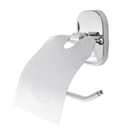 Купить Держатель для туалетной бумаги Квадрат с крышкой цвет хром дешевле