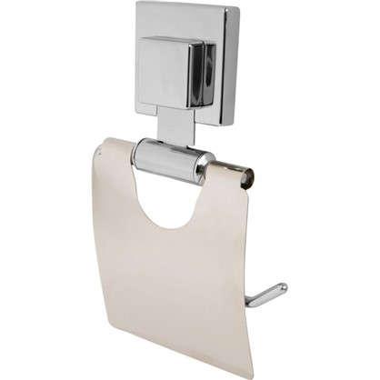 Купить Держатель для туалетной бумаги Sensea Smart Lock на присоске с крышкой цвет хром дешевле