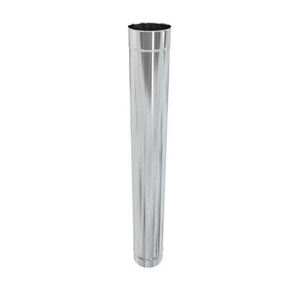 Купить Дымоход 120х0.5 мм 1 м нержавеющая сталь дешевле