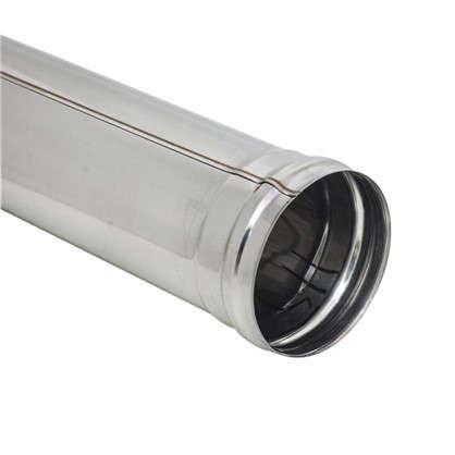 Дымоход 120х0.5 мм  0.5 м нержавеющая сталь