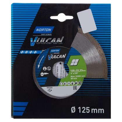 Диск алмазный Norton Ceram со сплошной кромкой 125x22.2 мм