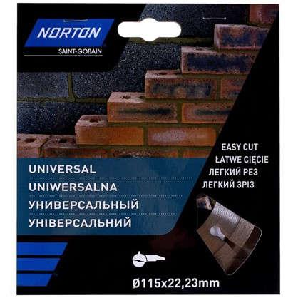 Диск алмазный Norton Universal с сегментированной кромкой 115x22.2 мм