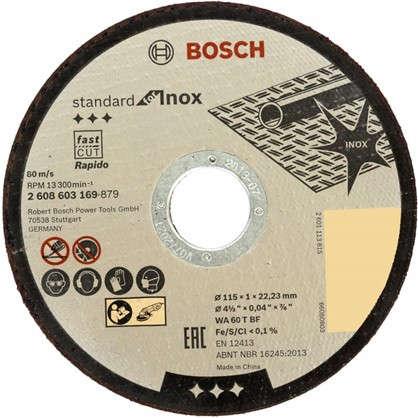 Диск отрезной по нержавейке Bosch 115x1 мм
