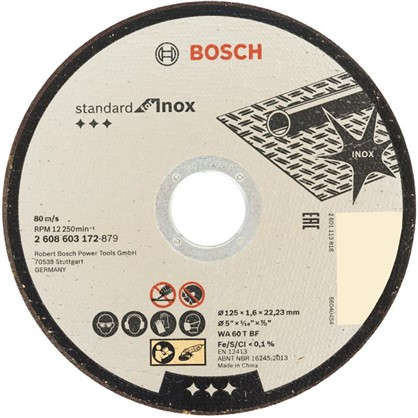 Диск отрезной по нержавейке Bosch 125x1.6 мм