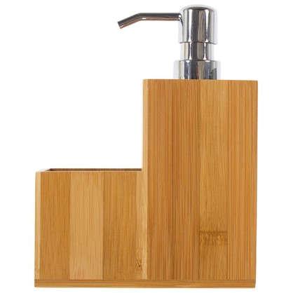 Диспенсер для моющего средства бамбук 120х120х185 мм