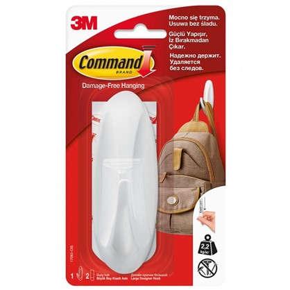 Дизайн-крючок Command большой цвет белый 1 шт.