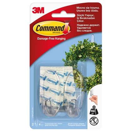 Купить Дизайн-крючок Command средний пластик цвет прозрачный 2 шт. дешевле