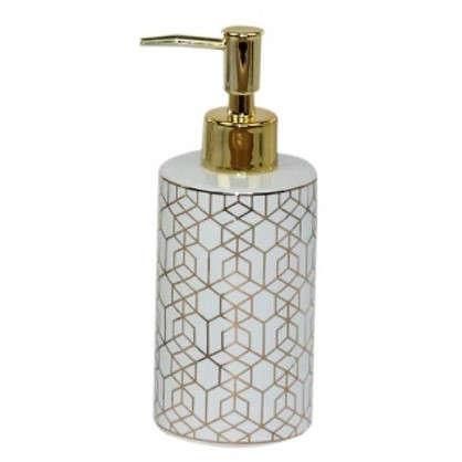 Дозатор для жидкого мыла Gode керамика цвет золотой