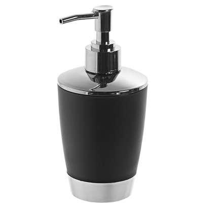 Купить Дозатор для жидкого мыла настольный Альма цвет черный дешевле