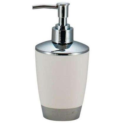 Купить Дозатор для жидкого мыла настольный Альма пластик цвет белый дешевле
