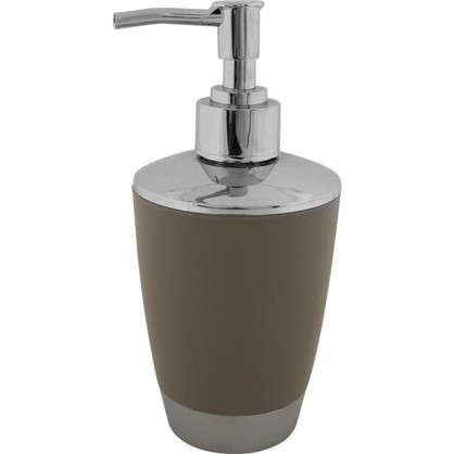 Дозатор для жидкого мыла настольный Альма пластик цвет бежевый