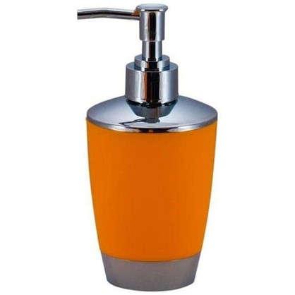 Дозатор для жидкого мыла настольный Альма пластик цвет оранжевый
