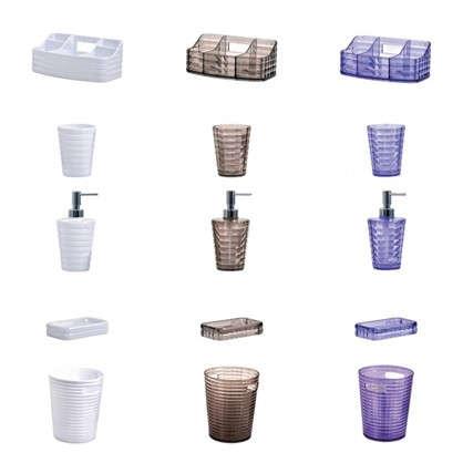 Купить Дозатор для жидкого мыла настольный цвет фиолетовый дешевле
