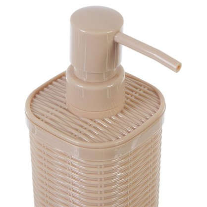 Дозатор для жидкого мыла настольный Roundy пластик цвет бежевый