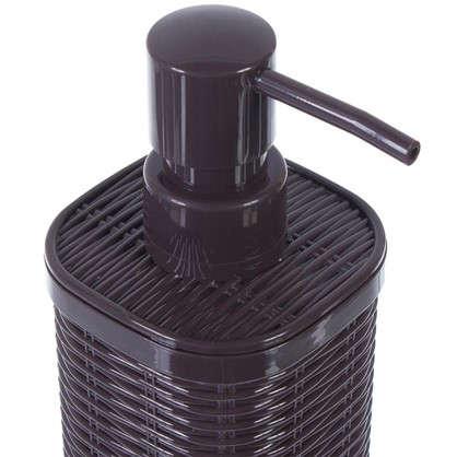 Дозатор для жидкого мыла настольный Roundy пластик цвет коричневый