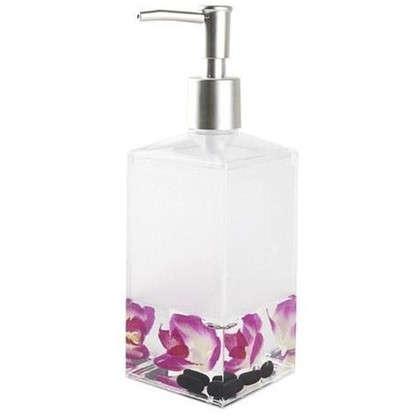 Дозатор для жидкого мыла настольный Verran Phalaenopsis акрил цвет розовый