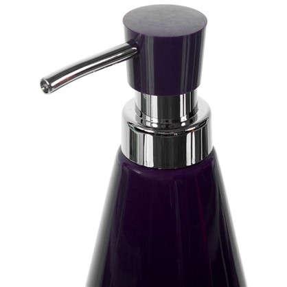 Дозатор для жидкого мыла настольный Veta керамика цвет фиолетовый