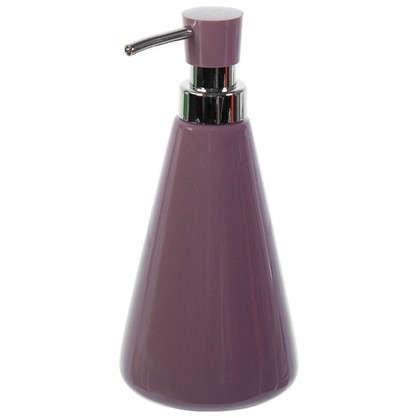 Дозатор для жидкого мыла настольный Veta керамика цвет сиреневый