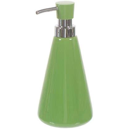 Дозатор для жидкого мыла настольный Veta керамика цвет зеленый