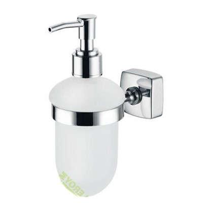 Дозатор подвесной для жидкого мыла Kvadro цвет хром