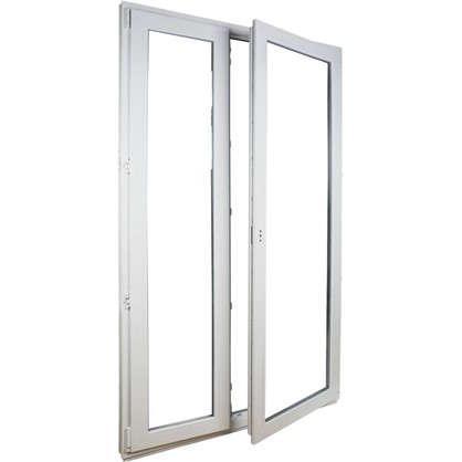 Дверь балконная ПВХ 210х120 2х-створчатая штульповая 2х камерная