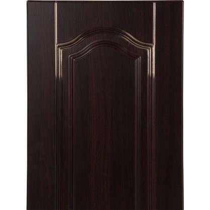 Дверь для кухонного шкафа Византия 33х92 см цвет темно-коричневый