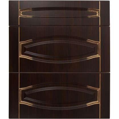 Дверь для кухонного шкафа Византия 80х70 см цвет темно-коричневый