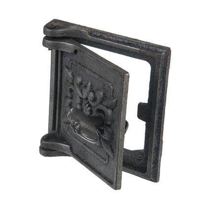 Дверь для поддува с рисунком 150х160 мм