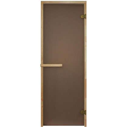 Дверь для сауны 69х189 см цвет матовая бронза