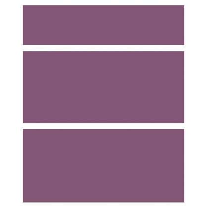 Купить Дверь для шкафа Delinia Слива 3 ящика 60 см МДФ/пленка ПВХ цвет слива дешевле