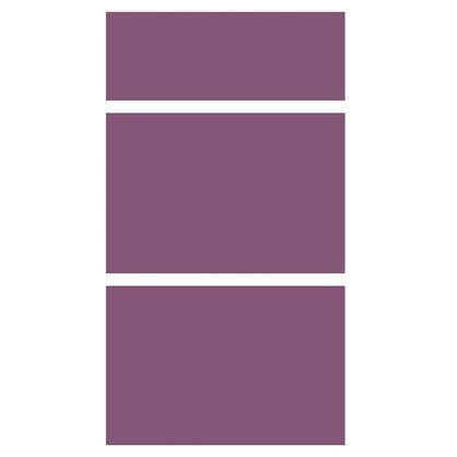 Дверь для шкафа Delinia Слива3 ящика 40 см МДФ/пленка ПВХ цвет слива