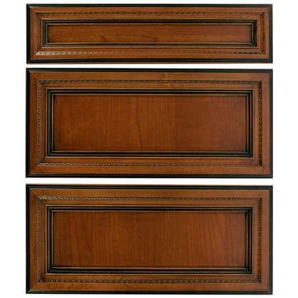 Дверь для шкафа Прованс 3 ящика 60 см массив дерева цвет коричневый