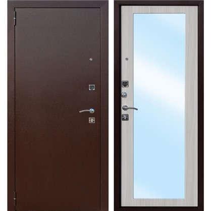 Дверь входная металлическая Царское зеркало Maxi 860 мм левая цвет дуб сонома