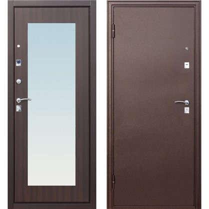 Дверь входная металлическая Царское зеркало Maxi 960 мм левая цвет венге