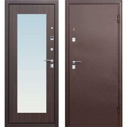 Дверь входная металлическая Царское зеркало Maxi 960 мм правая цвет венге