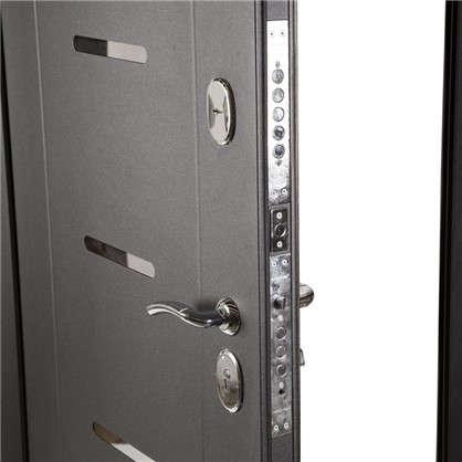 Дверь входная металлическая Гарда Муар 960 мм левая цвет тёмный кипарис