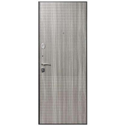 Дверь входная металлическая Гарда Муар 960 мм правая цвет венге тобакко