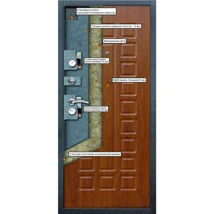 Дверь входная металлическая Йошкар 960 мм левая цвет золотистый дуб