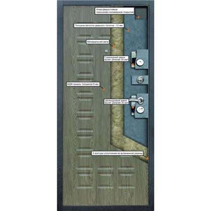Дверь входная металлическая Йошкар 960 мм правая цвет ель карпатская