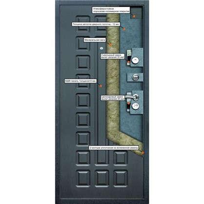 Дверь входная металлическая Йошкар 960 мм правая цвет венге