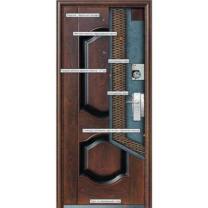 Дверь входная металлическая Кайзер K550 960 мм левая