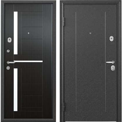 Дверь входная металлическая Контрол 2 860 мм левая цвет тёмный венге