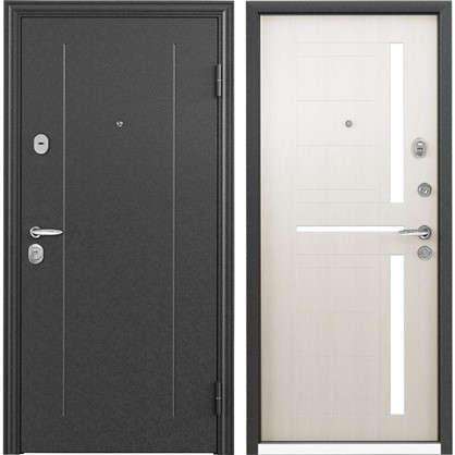 Купить Дверь входная металлическая Контрол 2 860 мм правая цвет белый перламутр дешевле