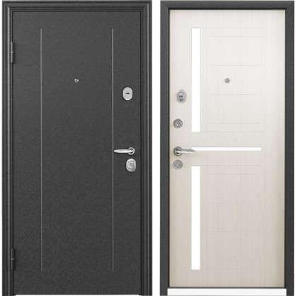 Купить Дверь входная металлическая Контрол 2 950 мм левая цвет белый перламутр дешевле