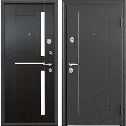 Купить Дверь входная металлическая Контрол 2 950 мм правая цвет тёмный венге дешевле
