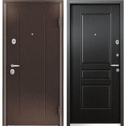 Дверь входная металлическая Контроль Хит 860 мм правая цвет венге
