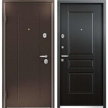 Купить Дверь входная металлическая Контроль Хит 950 мм левая цвет венге дешевле